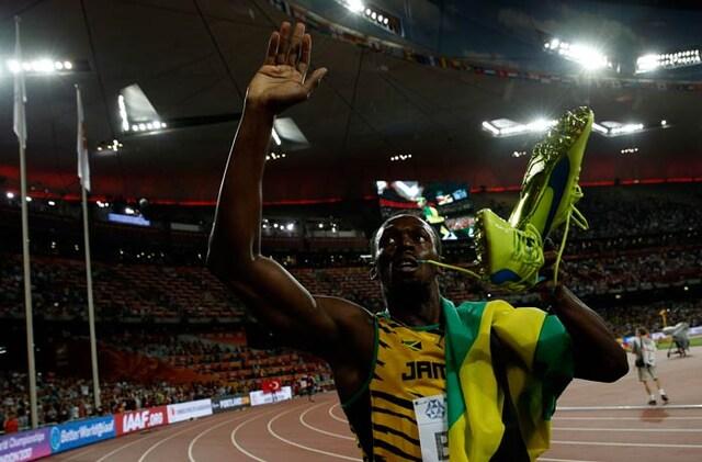 Usain Bolt Overcomes Justin Gatlin to Win Sprint Double at World Athletics
